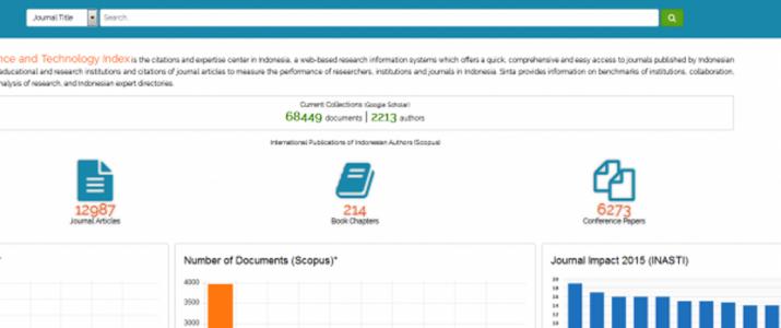 Pendaftaran Portal SINTA (Science and Technology Index)